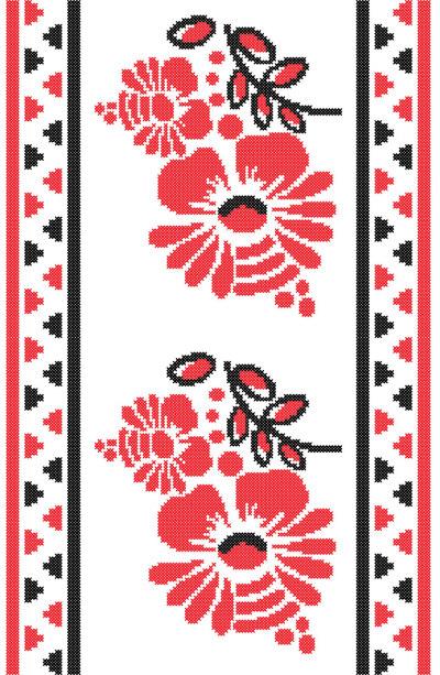 Автовышиванка цветы (embroidery_1)