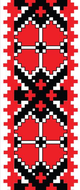 Авто вышиванка красно-черная (embroidery_6)