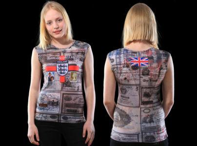 майка привет англия (art-t-shirt41)