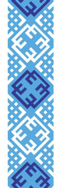 Автовышиванка сине голубой узор (embroidery_54)