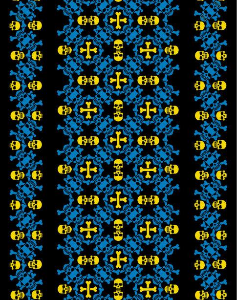 Автовышиванка черный желтый голубой (embroidery_48)