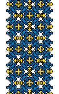 Авто вышиванка белый голубой жолтый (embroidery_45)