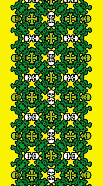 Авто вышиванка желтый зеленый (embroidery_43)