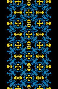 Авто вышиванка черный желтый голубой (embroidery_46)