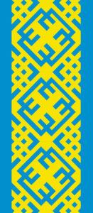 Авто вышиванка жолто блакитна (embroidery_58)
