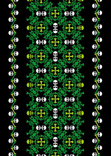 Авто вышиванка ченрный зеленый (embroidery_42)