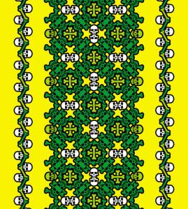 Авто вышиванка зеленый жолтый (embroidery_44)