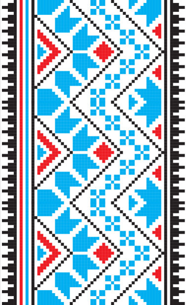 Авто вышиванка голубой черный ерасный (embroidery_11)