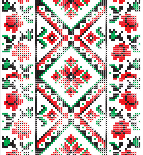 Авто вышиванка роза (embroidery_15)