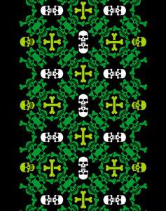 Автовышиванка зеленый черный (embroidery_41)