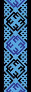 Автовышиванка голубой узор (embroidery_52)