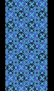 Автовышиванка голубой и черный (embroidery_51)