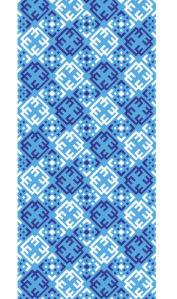 Автовышиванка голубой на белом (embroidery_53)