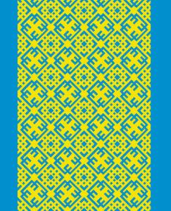 Автовышиванка жолто блакитна (embroidery_57)