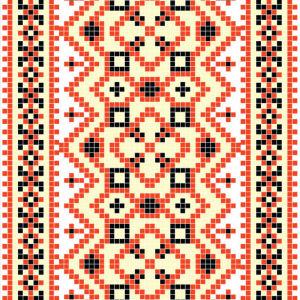 Авто вышиванка оранжевая и черная (embroidery_17)