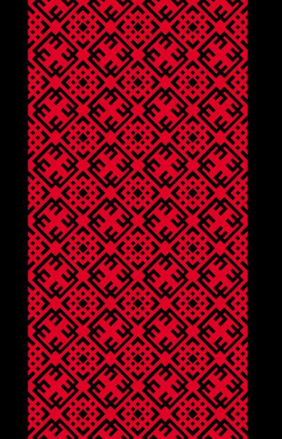 Автовышиванка красный узор (embroidery_55)